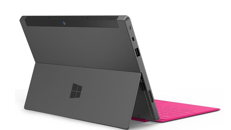 Backside View of Surface Tablet