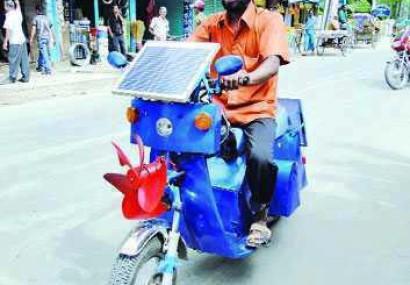 Teronga Inspirational Exclusive : Solar-Energized Motorcycle