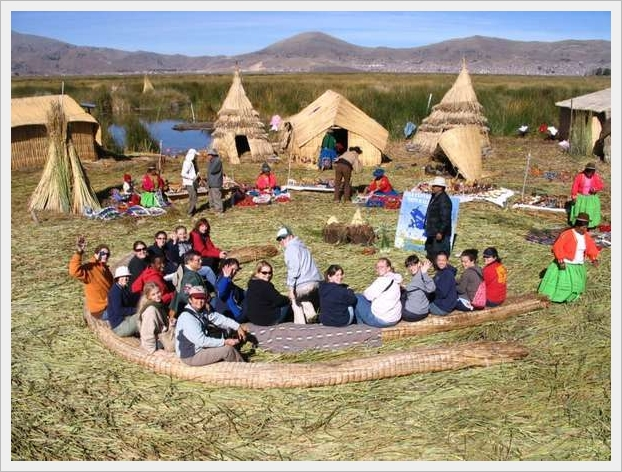 Uros Village, The Reeds Village On South America