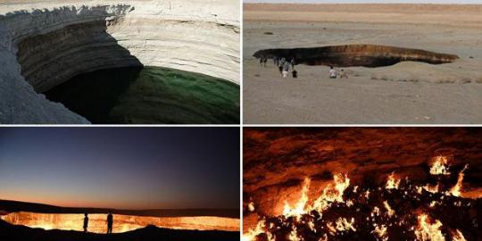The Door of The Hell on Karakum Dessert