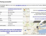 How to find the location of email sender